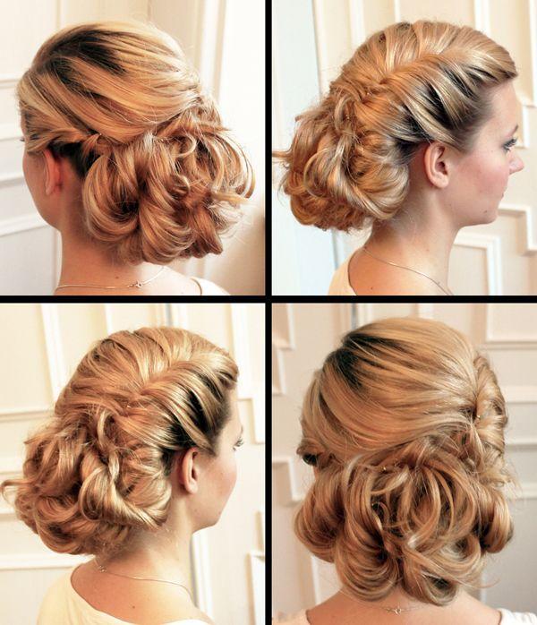 Bridal Hairstyle For Round Face Step By Step : Penteados presos para noivas